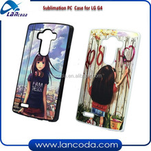 plastic sublimation phone case cover for LG G4,2d sublimation pc phone case,sublimation plastic phone cover