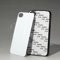 2D Sublimation mobile phone accessory for iPhone 4 4s with aluminium sheet