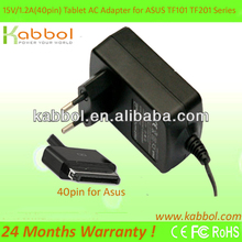 Fast shipping 12V laptop power adapter for ASUS tablet TF300T 101 201 700 18W ADP-18AW