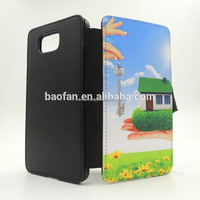 Sublimation Leather Cover for Samsung Galaxy Alpha G850 leather flip case