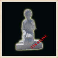 Stone carving girl statue sculpture