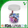 PET eco-friendly clear wholesale empty plastic cylindrical container