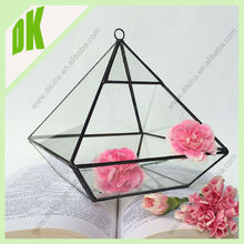 2014 new optional size geometric glass terrarium//crystal design clear hanging glass ball terrarium vase flower pot