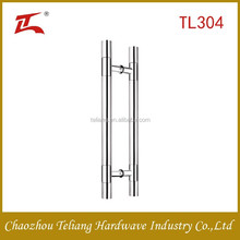 Hot sale stainless steel201 304 tempered glass door handle