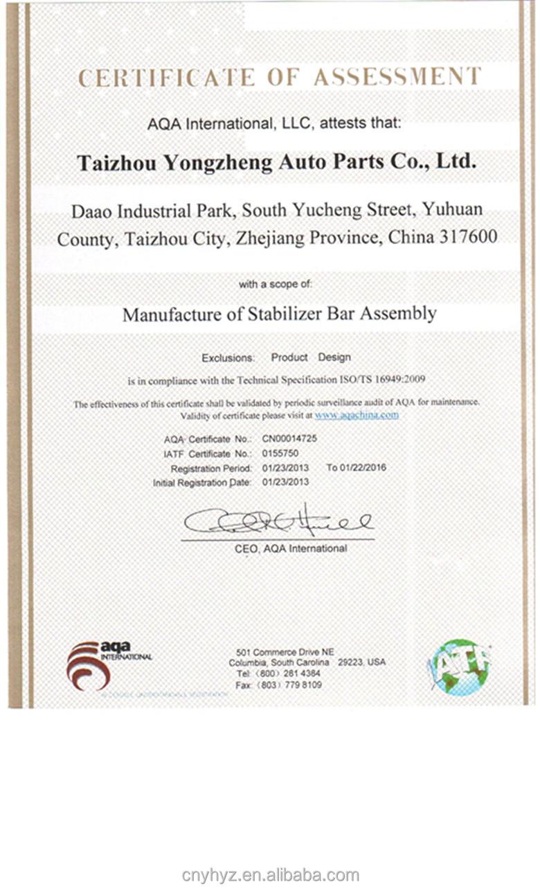 Alto desempenho e qualidade peças de suspensão Sway Bar ligação