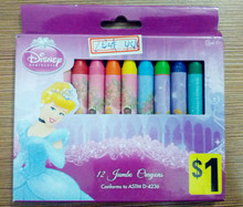 professional NON TOXIC 12pcs packed colorful wax pen / washable crayons