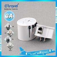 high power mini wifi usb adapter for UK US AUS EU plugs, business travel adapter