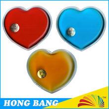 HBF533 colored heart shape PVC gel hot pack