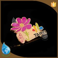 high quality decorative safety lapel pins flower custom