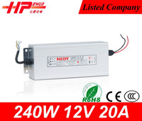 Guangzhou factory cheapest price AC to DC constant voltage single output 240w 20 amperes 12v xbox 360 power supply replacement