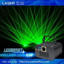 Professional 8W pub&party use green mini laser disco light for sale
