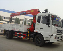 4x2 dongfeng Tinjin 8 ton SANY telescopic boom mobile truck crane