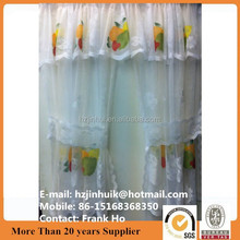 polyester printed window curtains/ lace curtains /net curtains valance