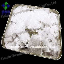 White translucent flake Industrial Grade caustic soda NaOH>=96%