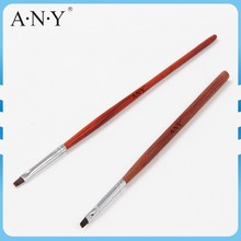 ANY Nail Art Gel Painting Rosewood Handle Flat Micropaint UV Gel Nail Art Brushes