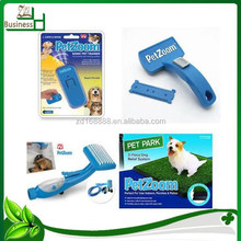 New Pet Zoom Self Cleaning Grooming Brush with Bonus Pet Trimmer As Seen on TV