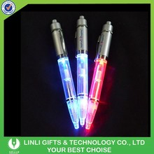 Promotional Gift Good Writing Aluminum Led Torch Light Pen