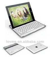 Metallic Aluminum Wireless Bluetooth Keyboard Case Cover for iPad Mini