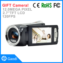 "Professional Max.12.0MP 1080P full HD digital video camera with 2.7""LCD screen"
