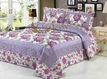 Brand new style pretty flowers bedding set patchwork quilt cotton quilt
