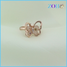Time-limited Hot Sale Korean Rose Gold Fashion Wild Opal Butterfly wholesale Rings Female Free Shipping