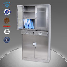 Nature colour hospital furniture stainless steel medical cabinet