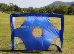 mini football goal with shooting target