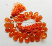 almendra natural cornalina facetada pera perlas