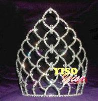 hair decorated crystal adult austrian bridal wedding rhinestone crystal tiara