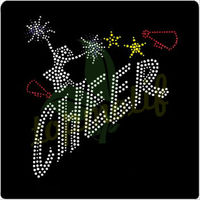 Iron On Strass Transfer Cheer Hot Fix Appliques Rhinestone Transfer For Gym Accessories