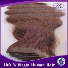 Best Selling Items On Alibaba Wholesale Natural 100% Human Virgin Indian Tape Hair Extension Body Wave