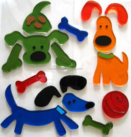 Removable static cling animal window stickers for children , glass stickers