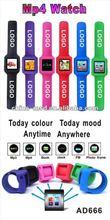 FM radio Colorful MP3/ MP4 wrist watch support 8GB card