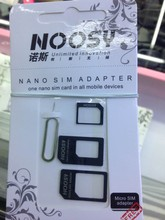 2014 Noosy Nano SIM Adapter For Iphone 5 4 1 Samsung android mobile phones From Nano to Micro Mini Sim With Retail