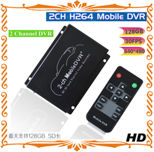 2-ch full-time bus SD card video dvr supports external trigger recording / photo and other recording / photo mode