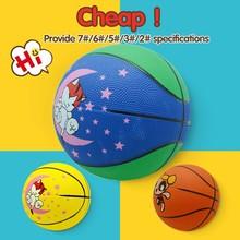 Bulk costomize small rubber basketball,kids cartoon embroidery designs