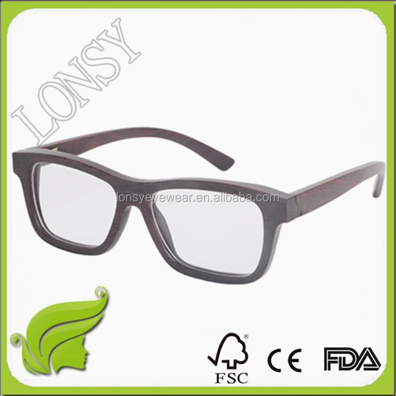 new arrival eyewear wooden frame eyeglasses