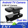2014 best Dual Mic hdmi 1080P output android tv set top box with 5.0 MP Camera