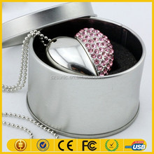 OEM heart shape female usb flash disk for high end market Accept paypal/Escrow
