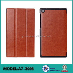 Ultra thin flip stand leather case for Lenovo Tab 2 A7-30 7 inch tablet leather case
