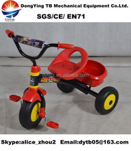 simple and cheap chilren carrier tricycle with three wheels