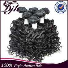 Hot in Africa market Full Cuticles Soft and Clean Remy Sew in Italy Curl Human Hair Extensions