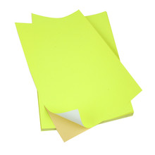 SINMARK Color series Bright Yellow label sticker paper a4