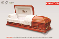 RED CEDAR casket coffin funerary interior import good casket from china