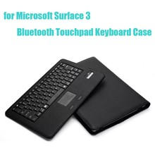 For Microsoft Surface 3 10.8 inch Removable Detachable Bluetooth Touchpad Keyboard Leather Case with Kickstand