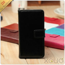 Hot selling mobile phone leather case For Blackberry Z10 XGUO