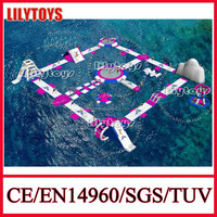 Amazing! 2015 new inflatable floating slide, inflatable adult water park,inflatable water toys for sea