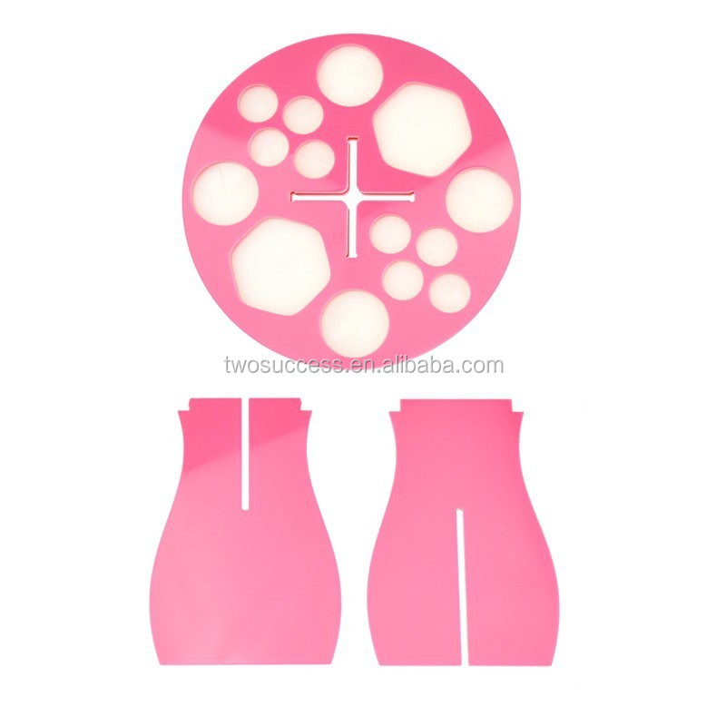 Pink Round Air-Drying-Makeup-Brush-Tool-Foldable-Acrylic(4)