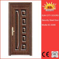 Russia style steel metal door flat hollow metal shed door SC-S098