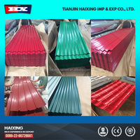 different colors pre-painted galvalume corrugated roofing sheet
